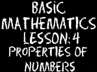 Numbers / Properties of Numbers videos