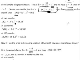 Exponential Functions videos