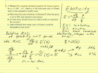 Elasticity Part 1 Help Video In College Math Calculus Free Math