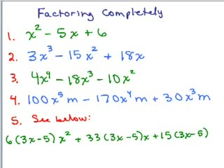 Factoring Completely - 1 preview image