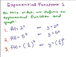 Exponential Functions 1 preview image