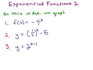 Exponential Functions 2 preview image