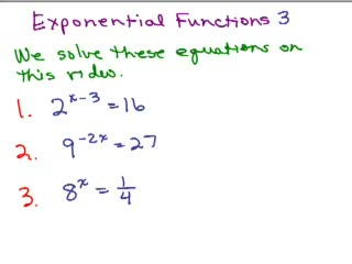 Exponential Functions 3 preview image