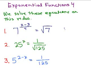 Exponential Functions 4 preview image
