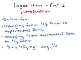 Logarithms 1 preview image