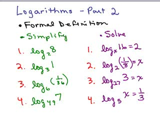 Logarithms 2 preview image