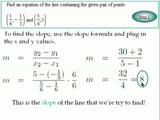 Finding the equation of a line through two points preview image