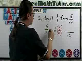 Subtracting Fractions videos