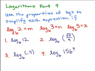 Logarithms 9 - Properties of Logs preview image