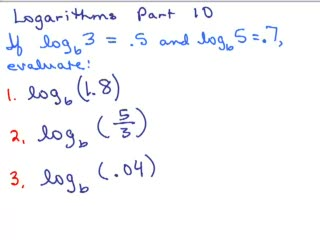 Logarithms 10 - Properties of Logs preview image