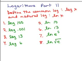 Logarithms 11 - Common and Natural Log preview image