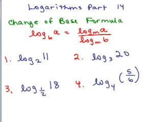 Logarithms 14 - Change of Base preview image