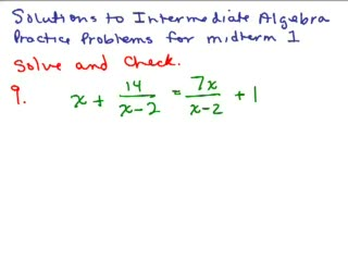 Intermediate Algebra Review Part 4 preview image