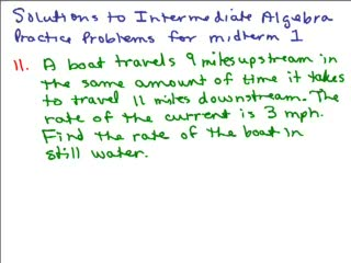 Intermediate Algebra Review Part 6 preview image