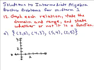 Intermediate Algebra Review Part 7 preview image