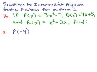 Intermediate Algebra Review Part 8 preview image