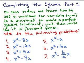 Completing the Square 1 preview image