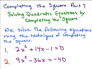 Completing the Square 4 preview image