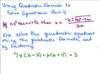 Quadratic Formula 4 preview image