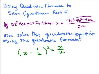 Quadratic Formula 5 preview image