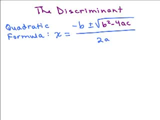 Discriminant in Quadratic Formula preview image