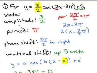 trigonometry review pre calculus help video in high school  trig review part 7 preview image