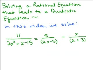 Solving Rational Equation to Quadratic 2 preview image