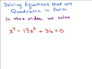Quadratic in Form Equation 1 preview image