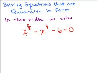 Quadratic in Form Equation 2 preview image