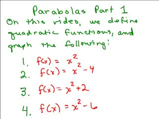 Parabolas videos