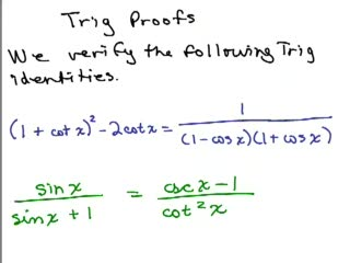 Trig Proof 2 preview image