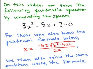 Completing the Square and Quadratic Formula 2 preview image