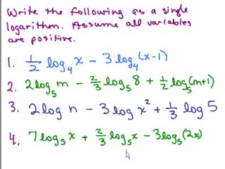 Logarithms 10b preview image