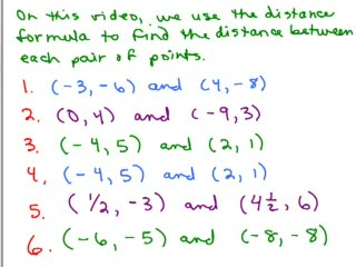 Distance Formula between 2 Pts Part 2 preview image