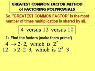 Finding the Greatest Common Factor GCF preview image