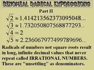 Rationalizing Denominators of Radical Roots preview image