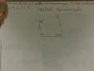 Solving for angle measures in a quadrilateral preview image