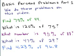 Solve Percent Equations Part 1 preview image
