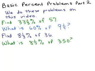 Solve Percent Equations Part 2 preview image