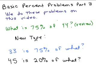 Solve Percent Equations Part 3 preview image