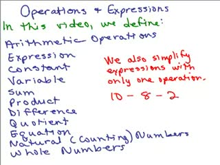 Operations and Expressions preview image