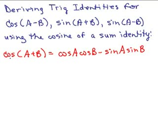 Trig Sum and Difference Identities preview image