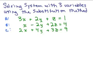 System of Equations with 3 variables - Part 2 preview image