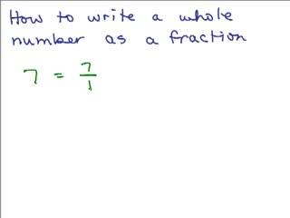 Write Whole Number as Fraction preview image
