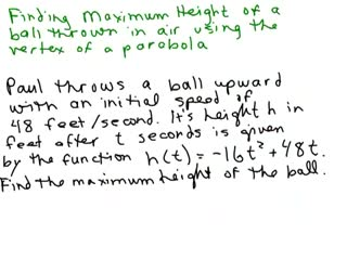Find maximum height of ball preview image
