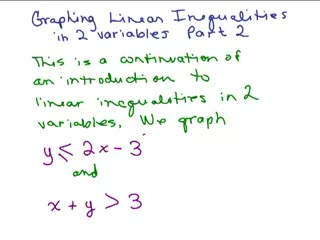 Graph Linear Inequalities 2 variables Part 2 preview image