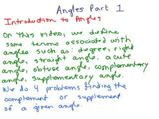 Angles Part 1 Intro preview image