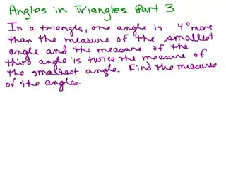 Triangle Angle Word Problem 3 preview image