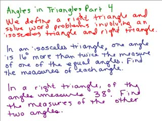 Triangle Angle Word Problem 4 preview image