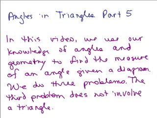 Triangle Angle Word Problem 5 preview image
